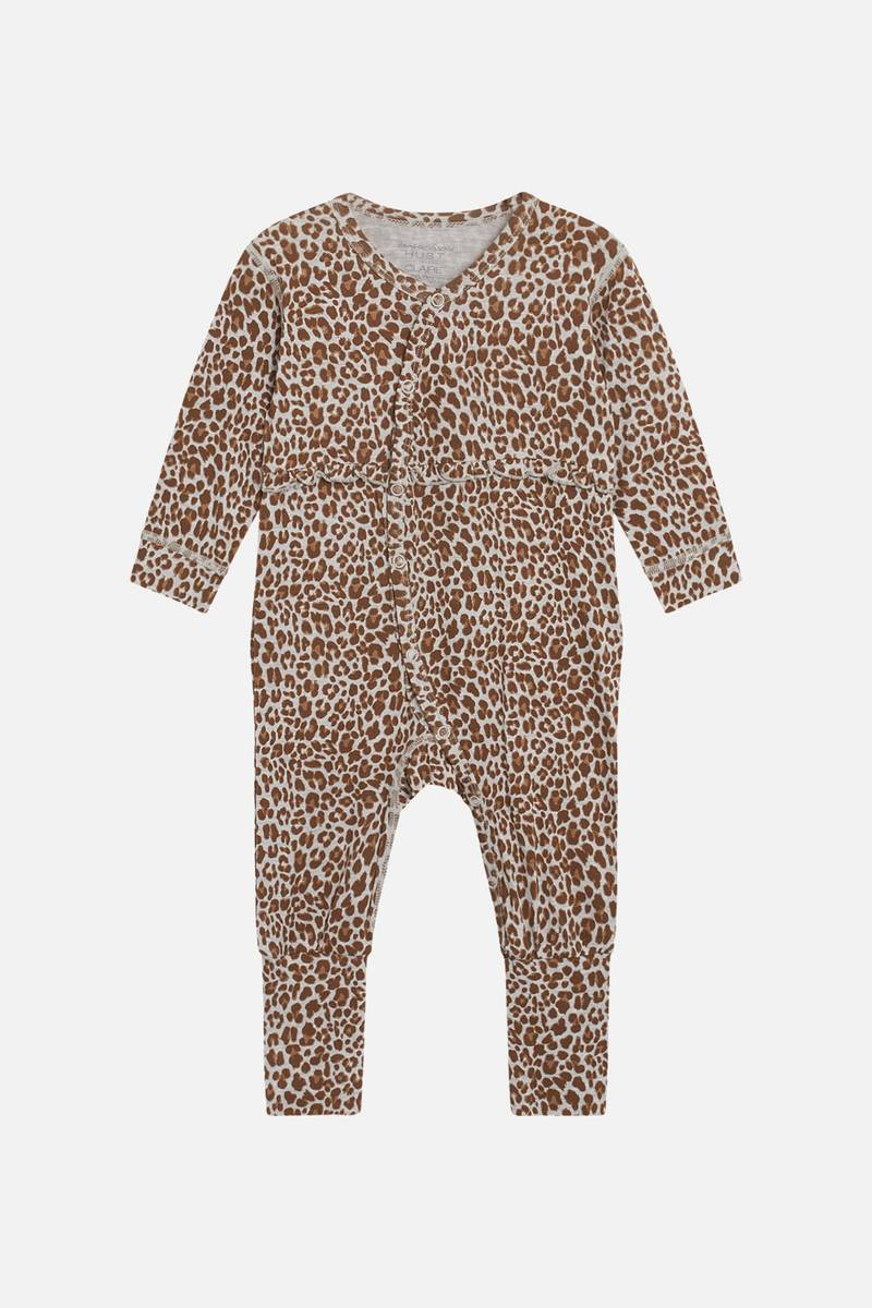 Hust & Claire Mulle bambus leopard heldress - wheat