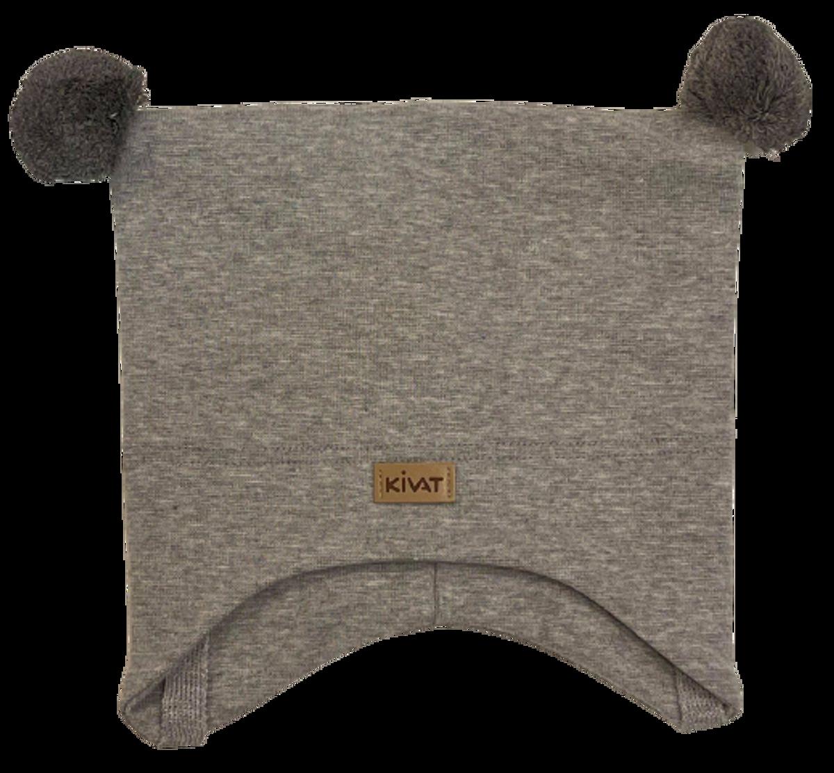 Kivat Logo knytelue m/dusker - grå