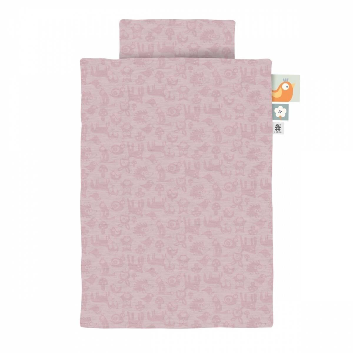 Sebra sengetøy jr forest - blossom pink