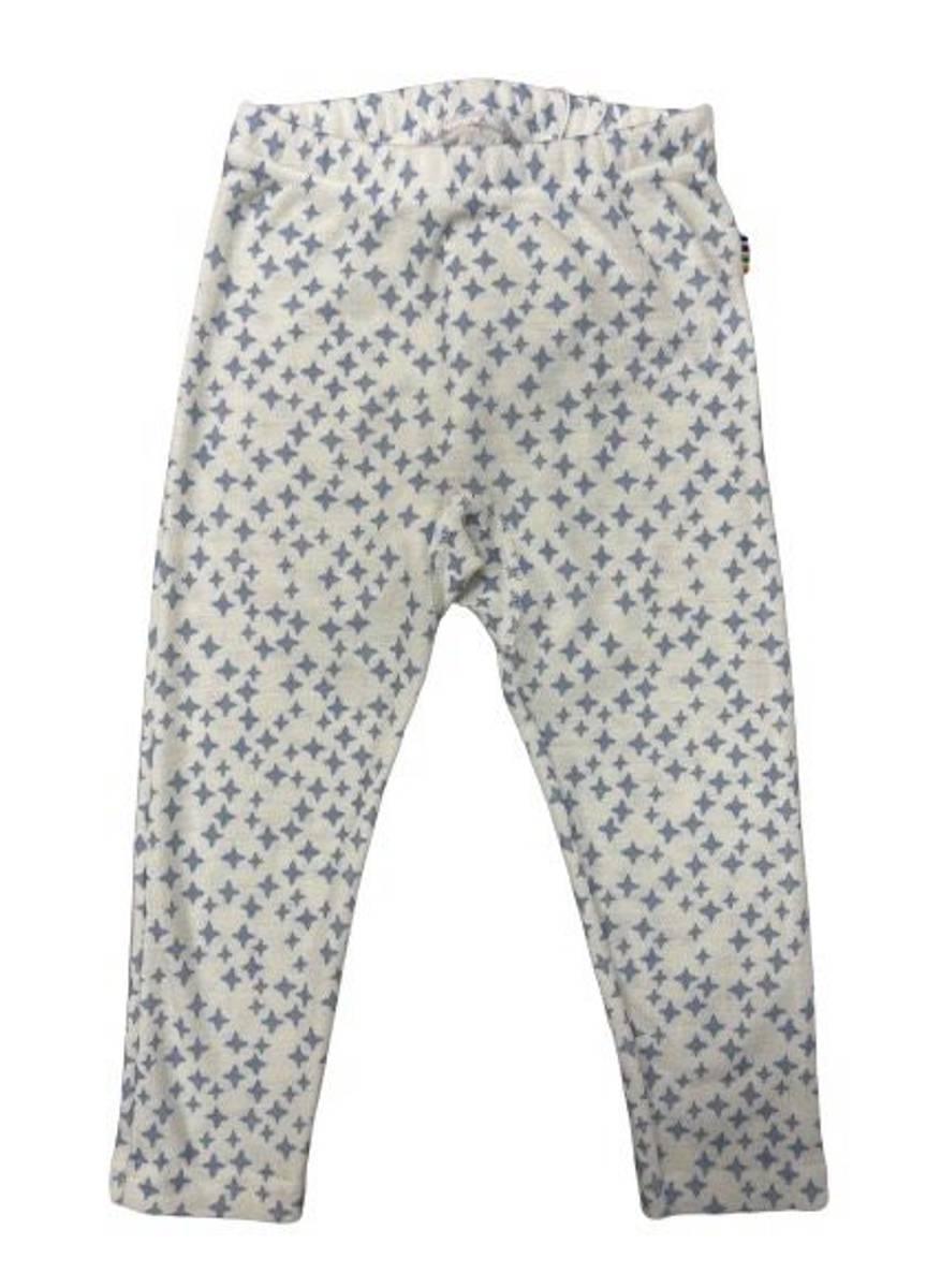 Joha Star ull/silke leggings - blå