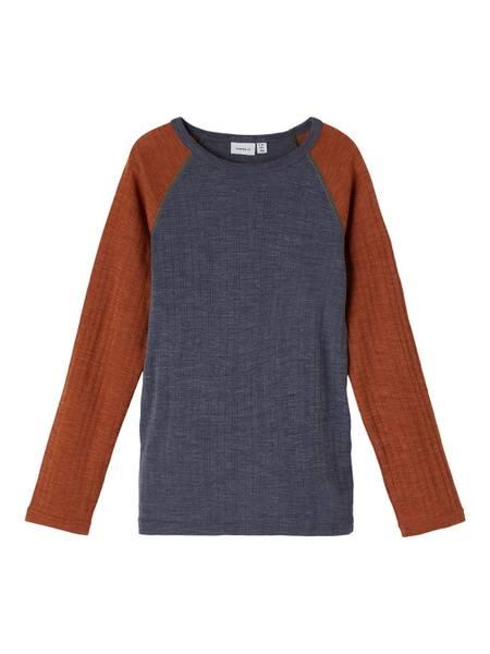 Bilde av Name It Wang Wool needle trøye kids - ombre blue
