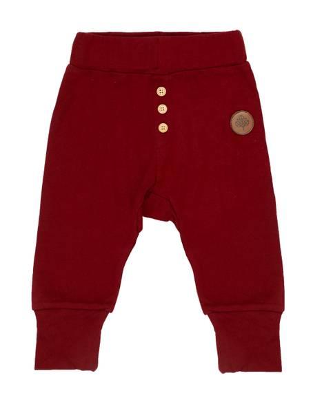 Bilde av Gullkorn Design Villvette baby bukse - dyp rød