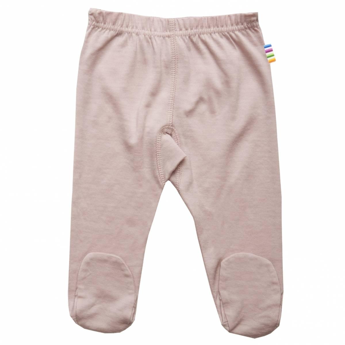 Joha Happy bear ull leggings med/fot - rosa